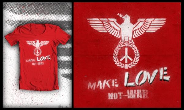 Detail návrhu Make LOVE,Not war
