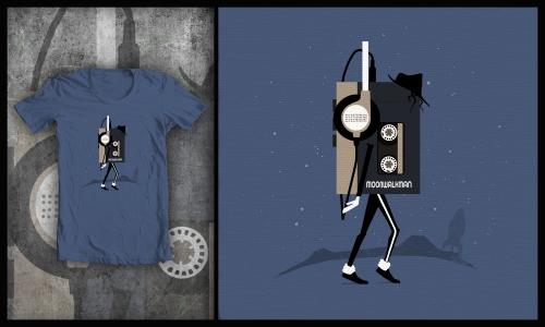 Detail návrhu Moonwalkman