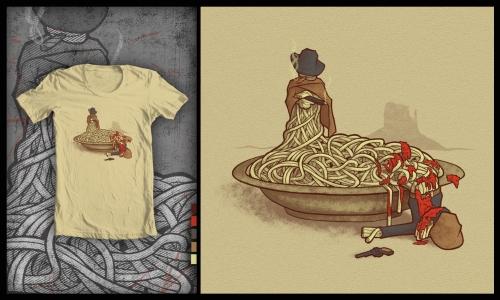 Detail návrhu Spaghetti Western