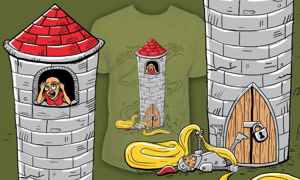 Detail návrhu Princezna ve věži