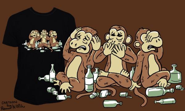Detail návrhu Trojnásobná opice