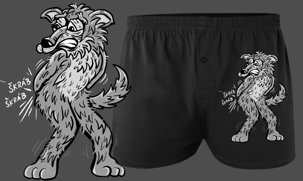 Detail návrhu Vlk má vlka :-(