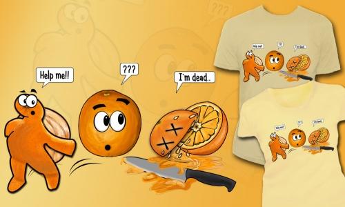 Detail návrhu Příběh pomeranče
