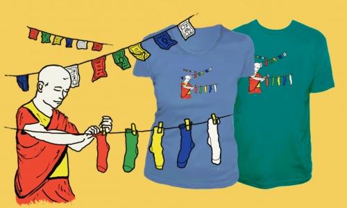 Detail návrhu Tibetské modlitební ponožky