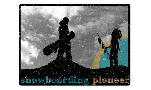 Detail návrhu snowboarding pioneer