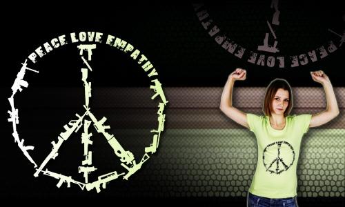 Detail návrhu peace - love - empathy