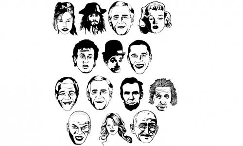 Detail návrhu Známé tváře