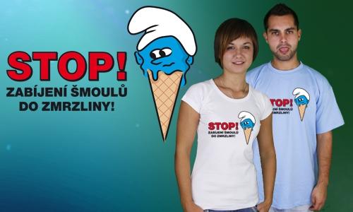 Detail návrhu Stop zabíjení šmoulů