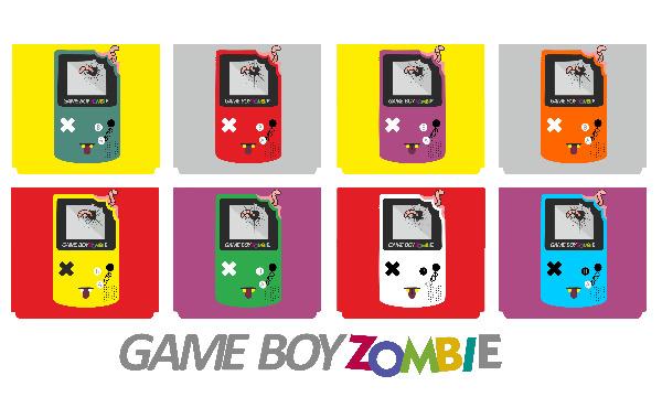 Detail návrhu Gameboy Zombie