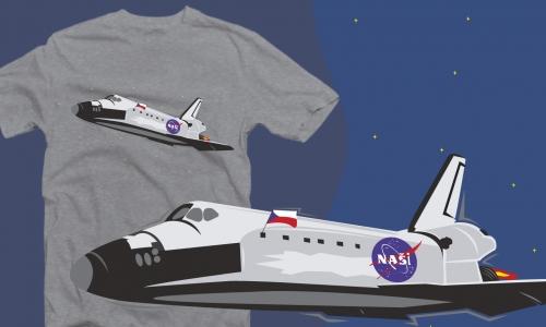 Detail návrhu raketoplán Naši