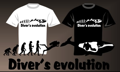 Detail návrhu Diver's evolution
