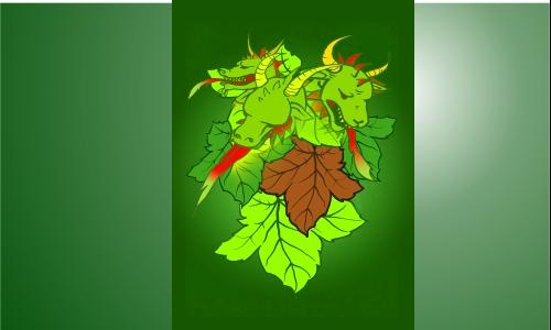 Detail návrhu draci s révou