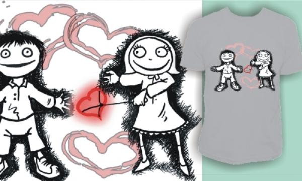 Detail návrhu Vypálené srdce