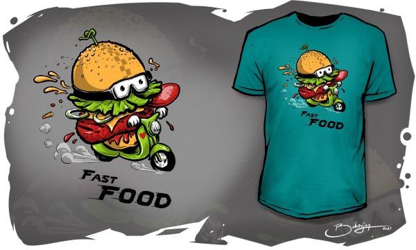 Detail návrhu Fast Food