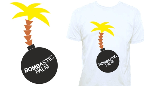Detail návrhu Bombová palma