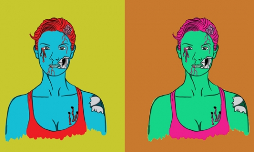 Detail návrhu Zombie girls