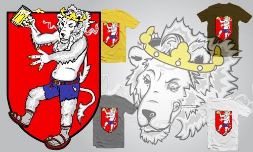 Detail návrhu Pařící lev