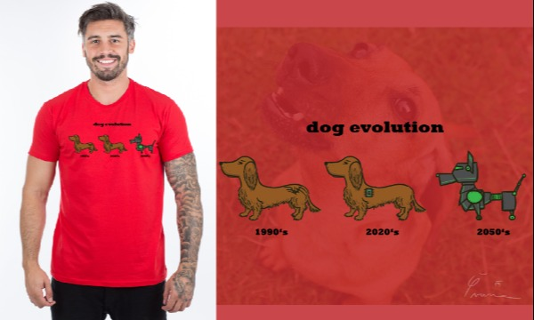 Detail návrhu Dog evolution
