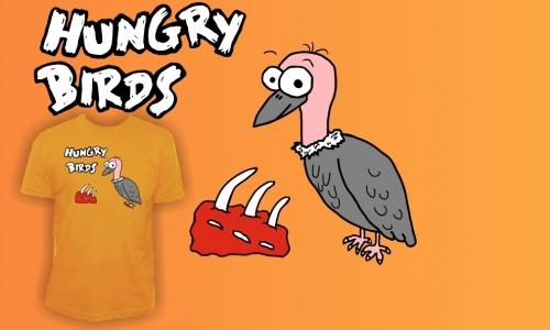Detail návrhu Hungry birds
