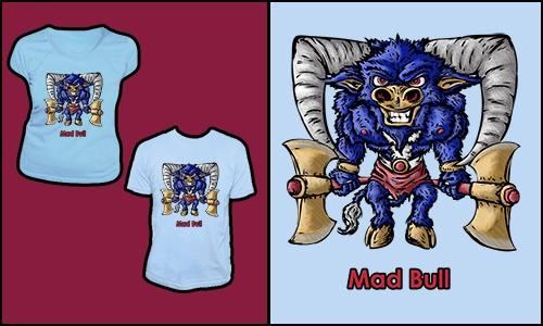 Detail návrhu Mad Bull (2.verze)