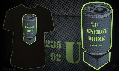 Detail návrhu U235 Energy Drink