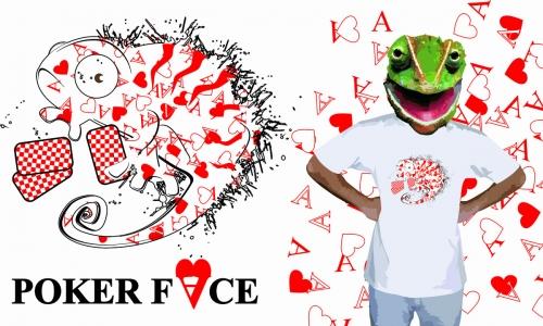Detail návrhu Poker face