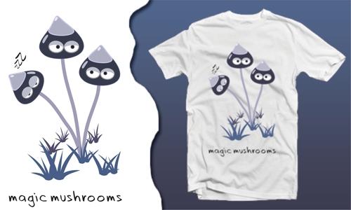 Detail návrhu magic mushrooms