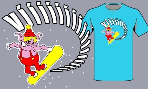 Detail návrhu Snowboarding