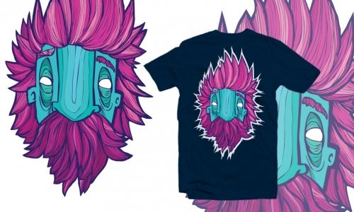 Detail návrhu punk grandpa