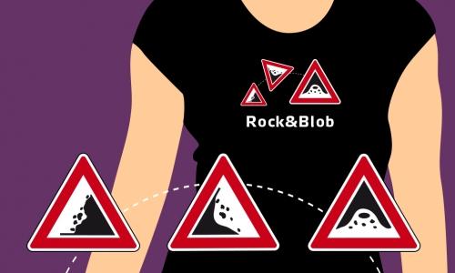 Detail návrhu Rock&Blob