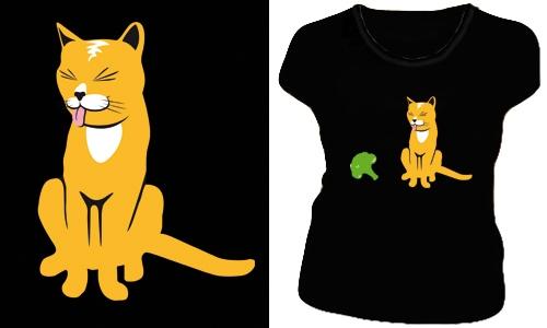 Detail návrhu cat and broccoli