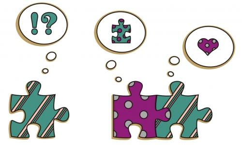 Detail návrhu Nevěrné puzzle