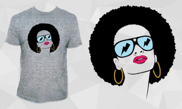 Detail návrhu Afro hippie woman