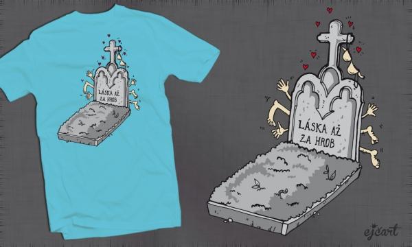 Detail návrhu Láska až za hrob