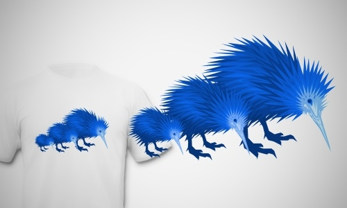 Detail návrhu Blue Kiwi