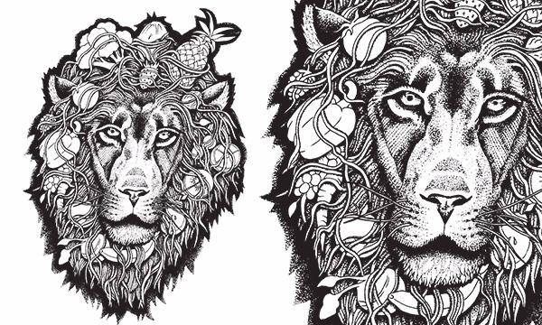 Detail návrhu Ovocný lev