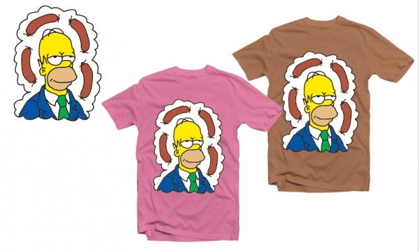 Detail návrhu Homer a jelito