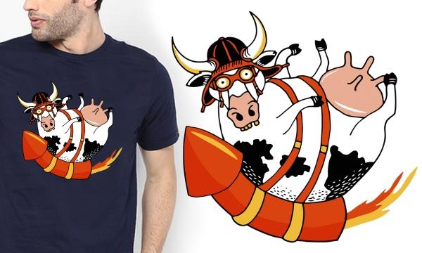 Detail návrhu Hele vole, kráva letí !