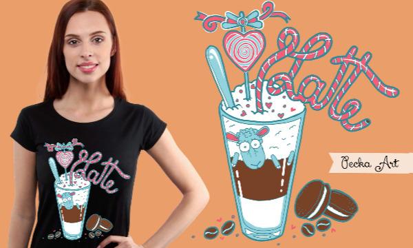 Detail návrhu I love latte ♥