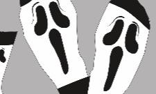 Návrh na ponožky - scary movie :D
