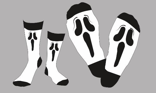 Detail návrhu Návrh na ponožky - scary movie :D