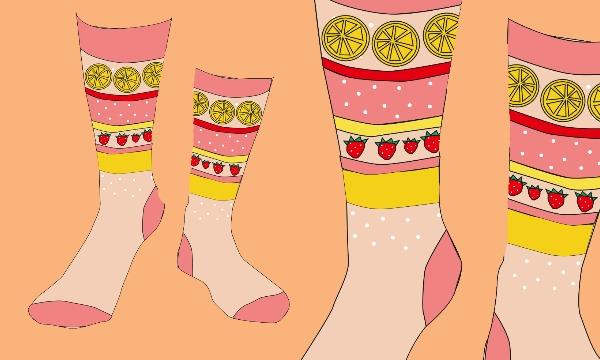 Detail návrhu Návrh na ponožky - sweet cake :P