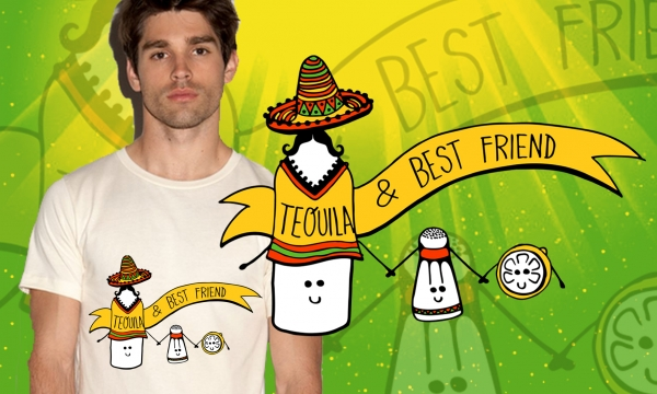 Detail návrhu Tequila & best friends