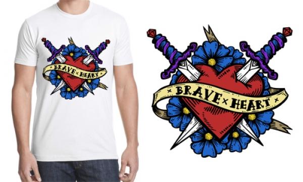 Detail návrhu Brave x Heart