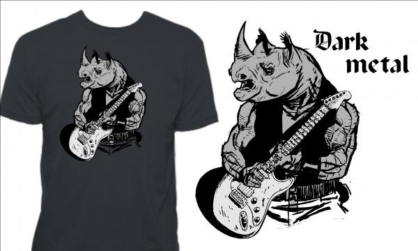 Detail návrhu Dark metal