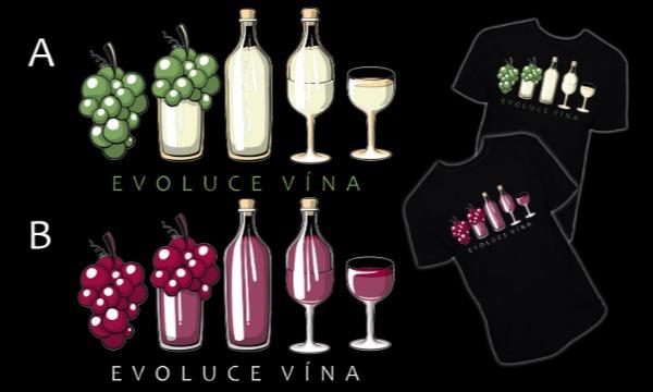Detail návrhu Evoluce vína