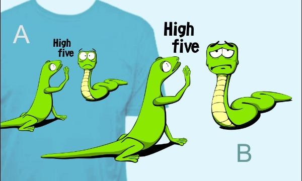 Detail návrhu High five!