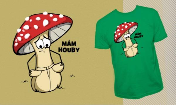 Detail návrhu Mám houby...
